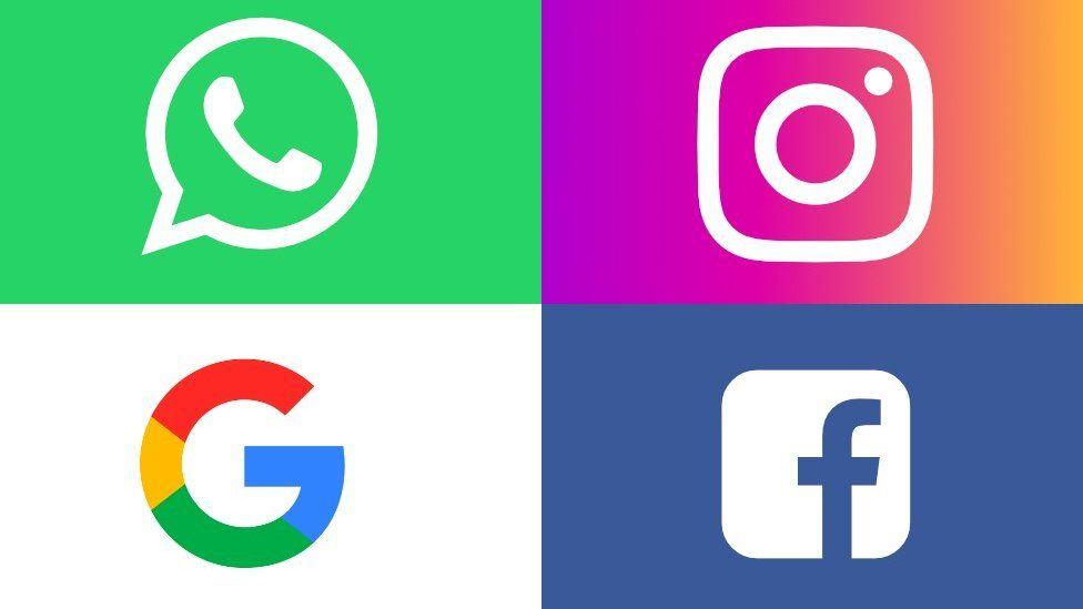 Web giant logos