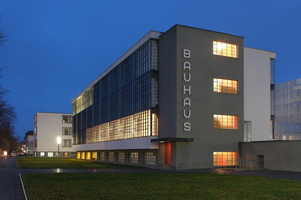 Exterior of the Bauhaus art school