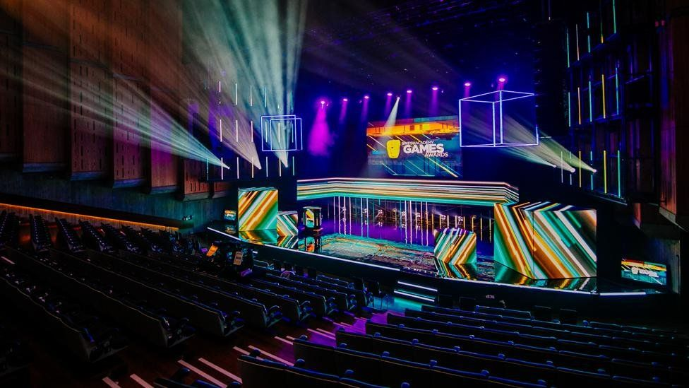 The stage for the Bafta games awards 2019
