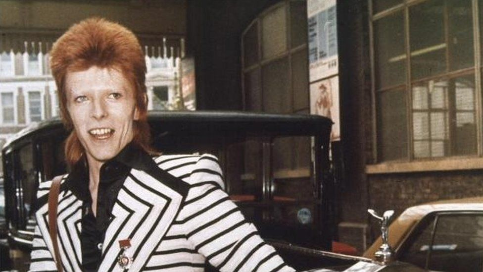 David Bowie during his Ziggy Stardust phase.