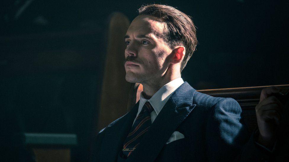 Sam Claflin as Sir Oswald Mosley in Peaky Blinders
