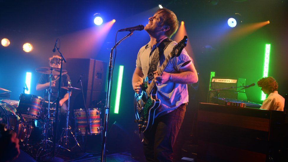 Drummer Patrick Carney and singer Dan Auerbach of The Black Keys perform onstage during the iHeartRadio LIVE performance and Q&A with The Black Keys at iHeartRadio Theater on June 9, 2015 in New York City