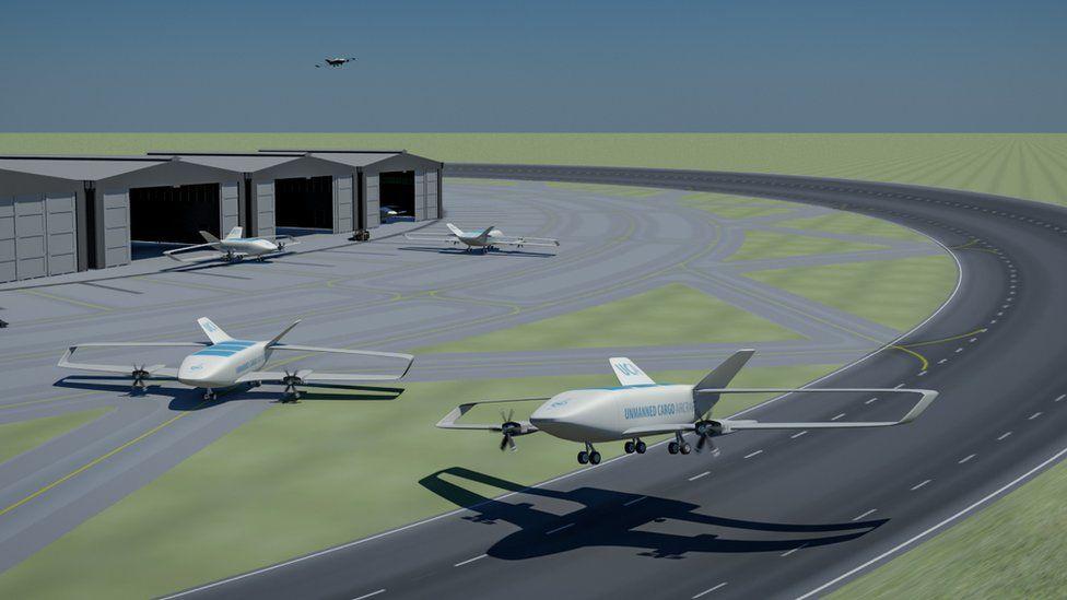 Runways for drones