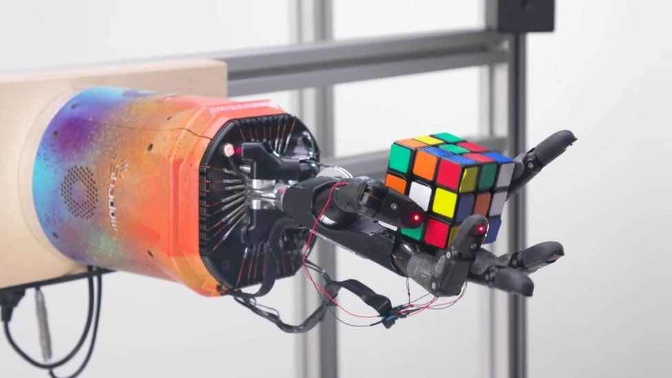 The robot hand took, on average, around four minutes to solve the Rubik's cube