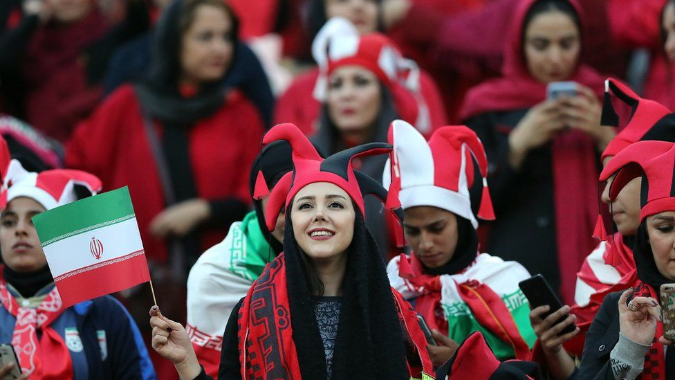 Female Persepolis fans at Azadi stadium - 10 November