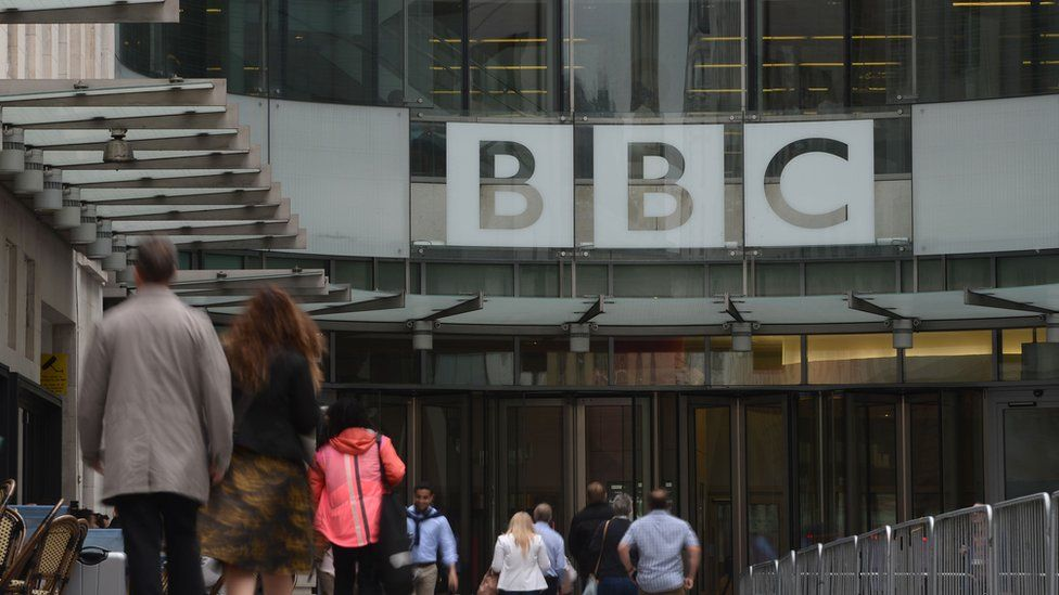 BBC New Broadcasting House entrance