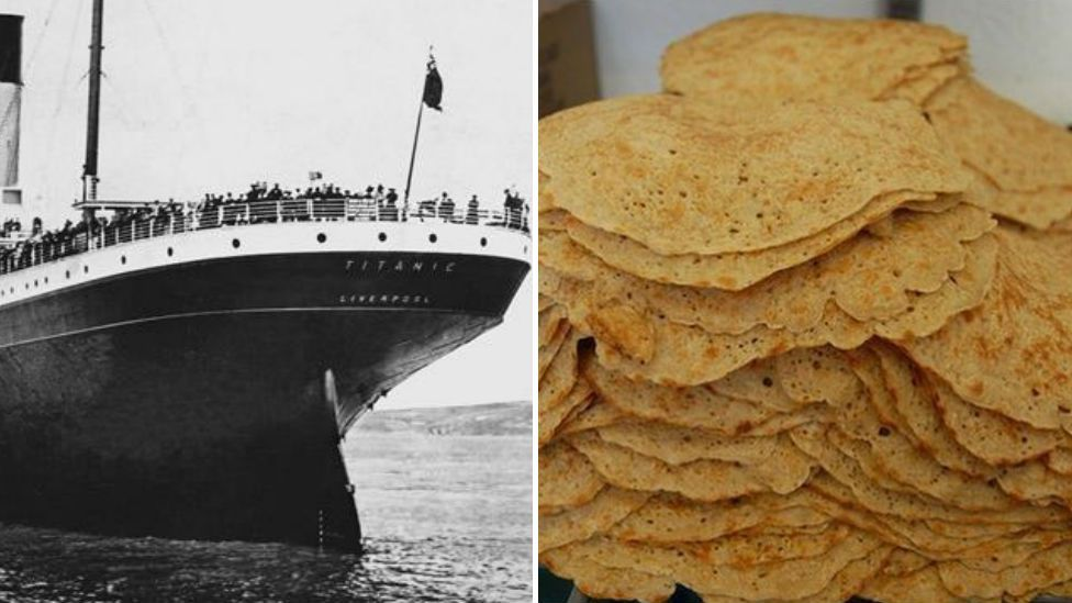 The Titanic and a stack of oatcakes