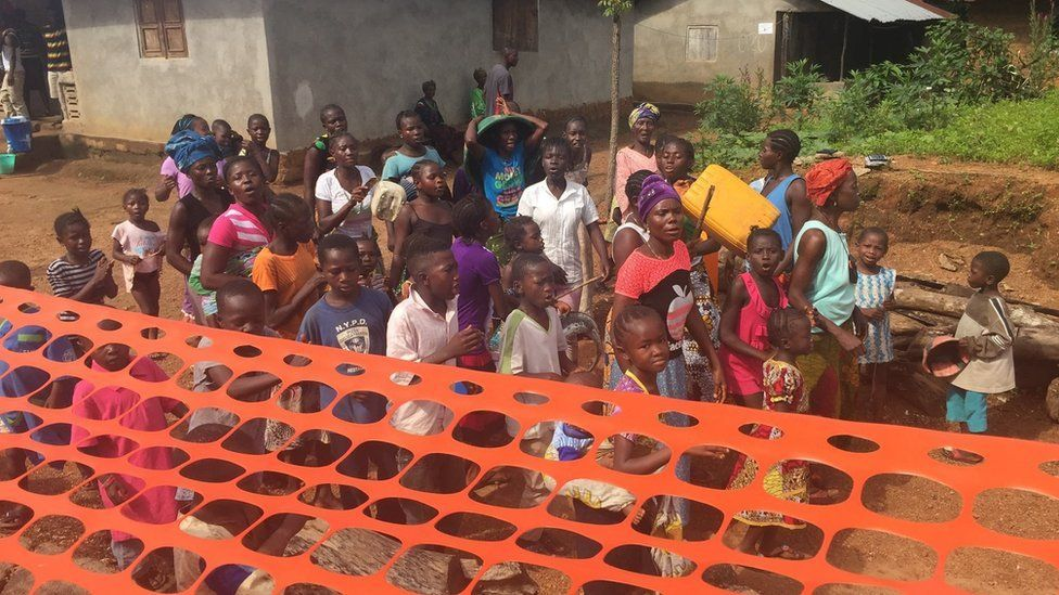 villagers celebrate the end of the quarantine