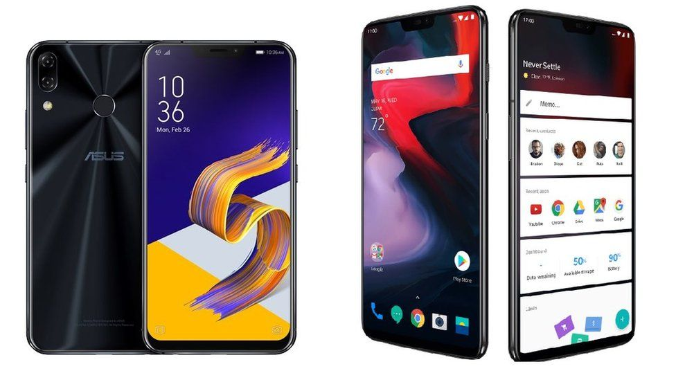Asus ZenFone 5Z and OnePlus 6