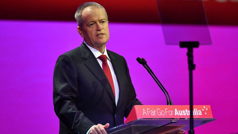 Bill Shorten addressing a Labor Party conference