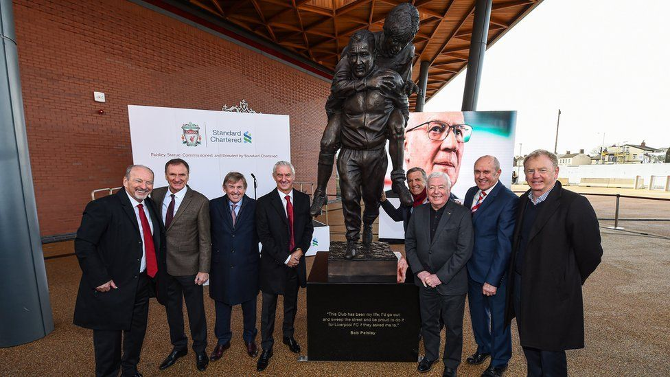 Former Liverpool players at Bob Paisley statue unveiling
