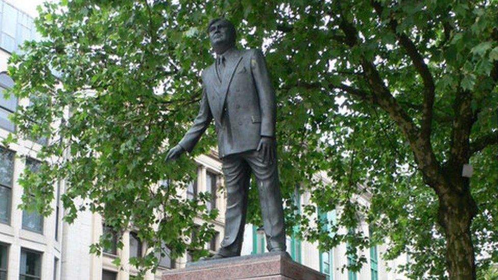 Statue of Aneurin Bevan in Cardiff City Centre