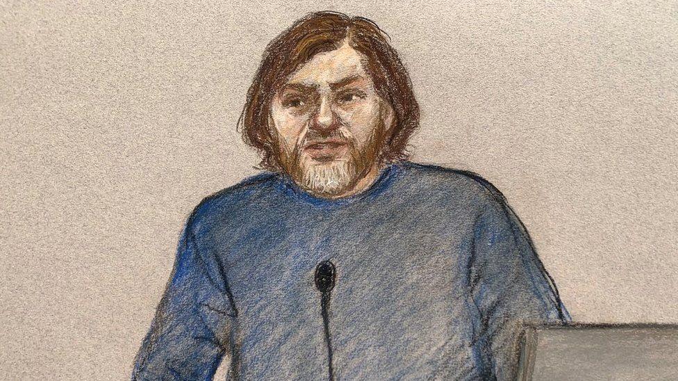 Court sketch of Lukasz Koczocik