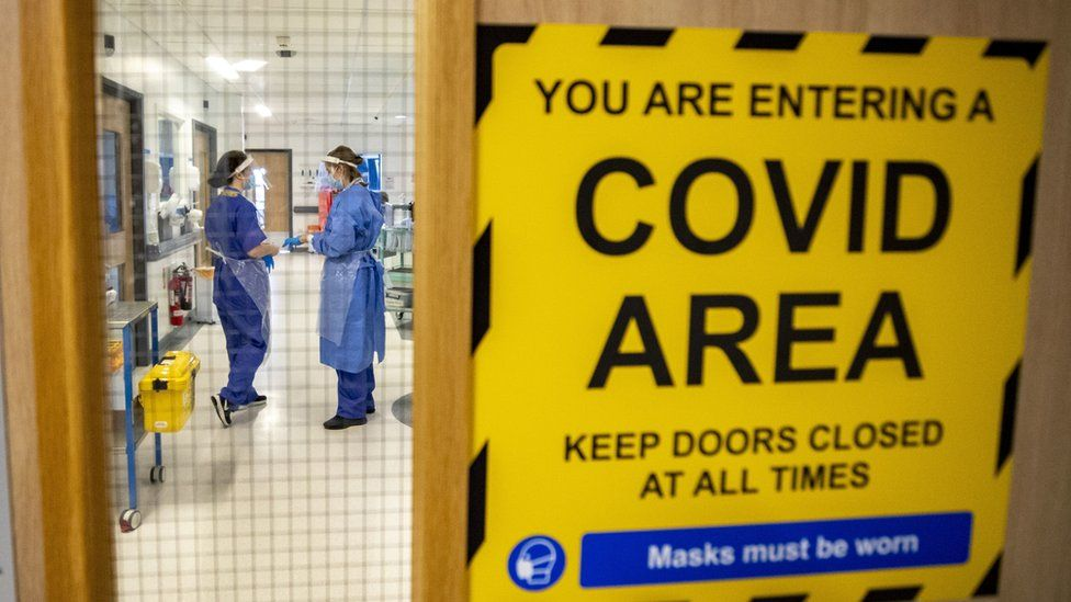 Covid ward in hospital