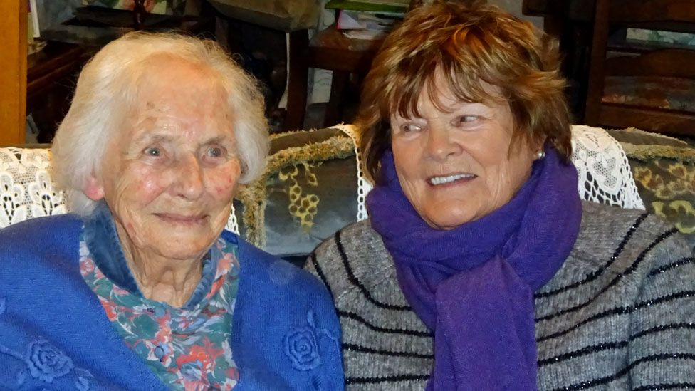 Jane, 92, with Anthea, 80