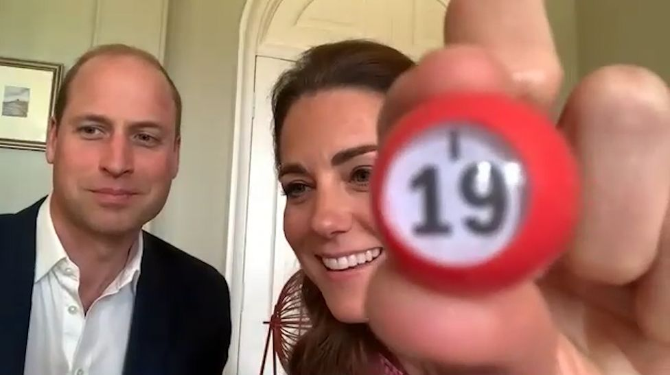 The Duke and Duchess took their turn as guest bingo callers for one of the games