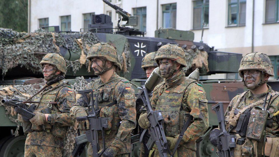 German troops in Nato battlegroup in Lithuania, 25 Aug 17
