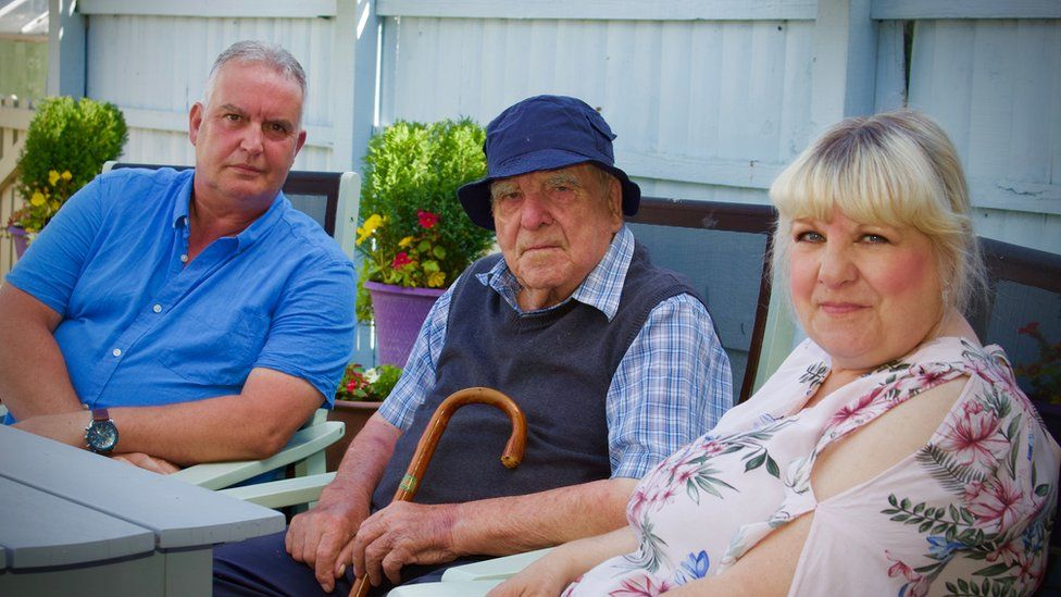 Neville Copeman with Nick and Maxine Fulcher