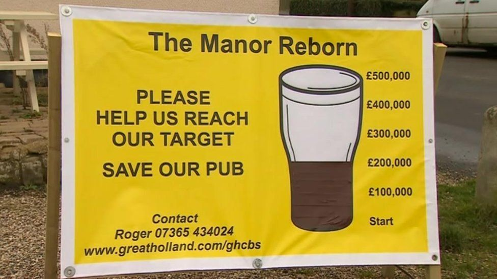 Save our pub sign
