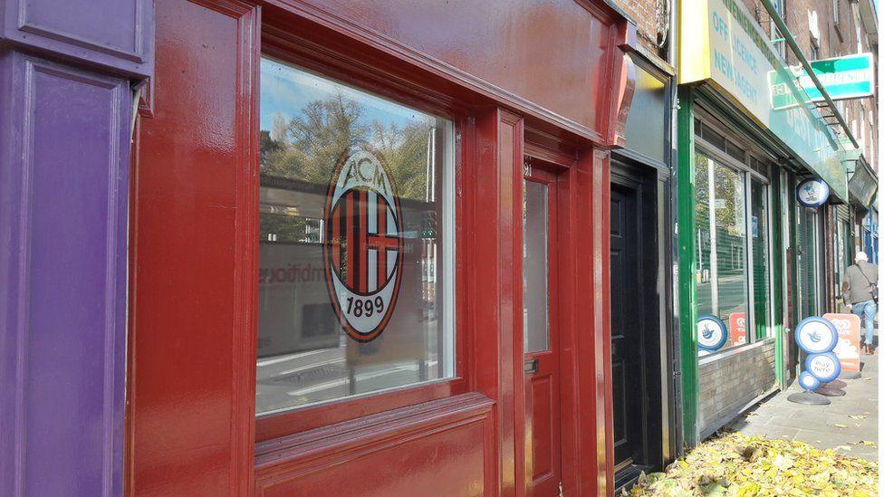 Herbert Kilpin AC Milan shop front