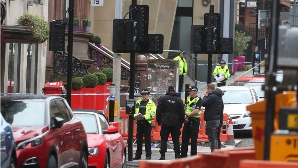 The incident sparked a major police operation in the city centre