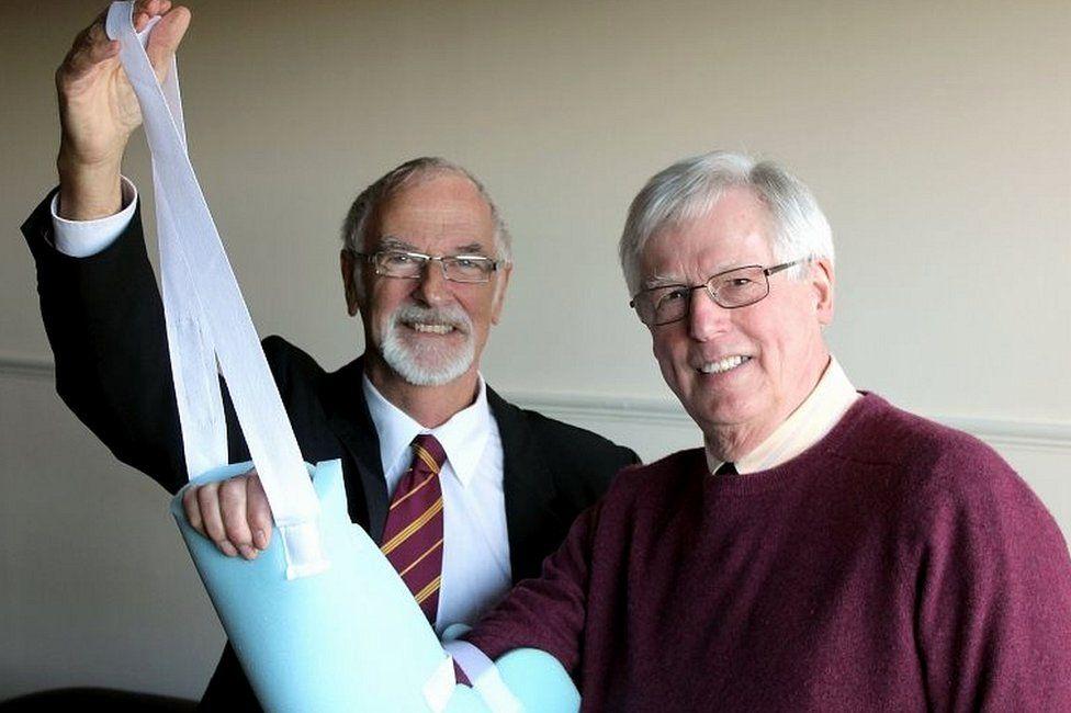 Professor David Sharpe and John Craven