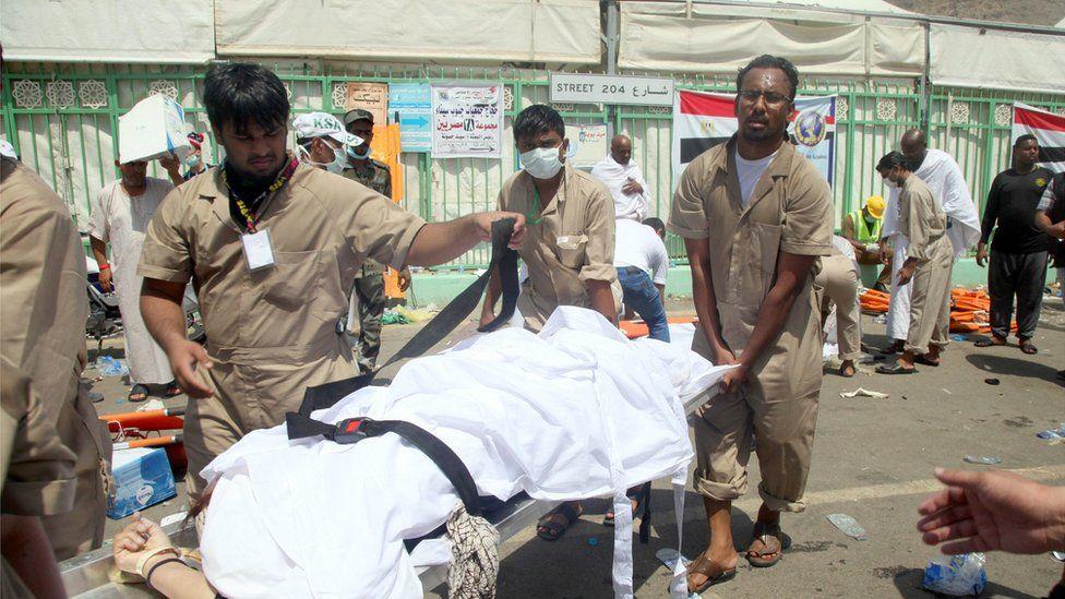 Victim taken away by stretcher. 24 Sept 2015