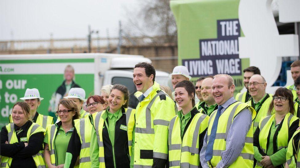 George Osborne and Asda workers