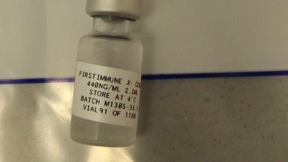 A bottle of GcMAF