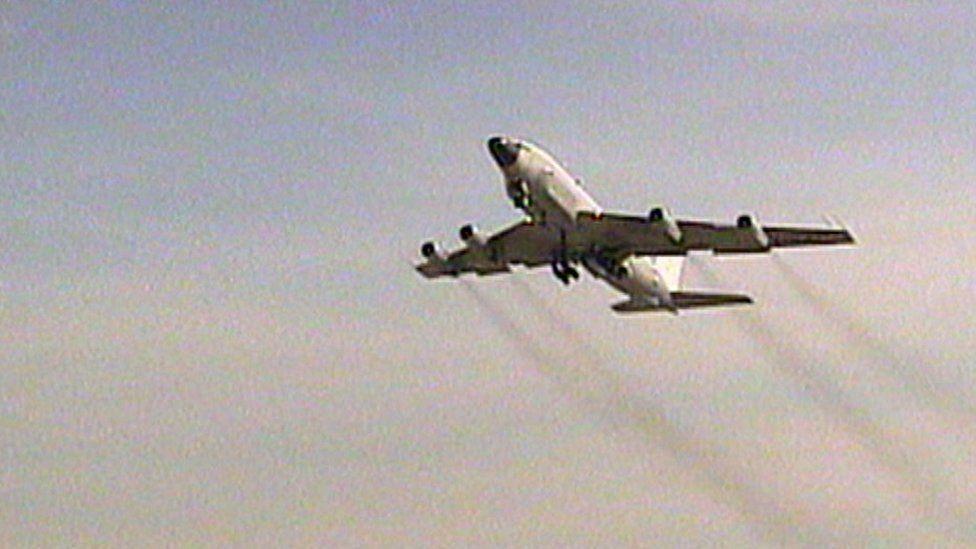 An RC-135 in flight