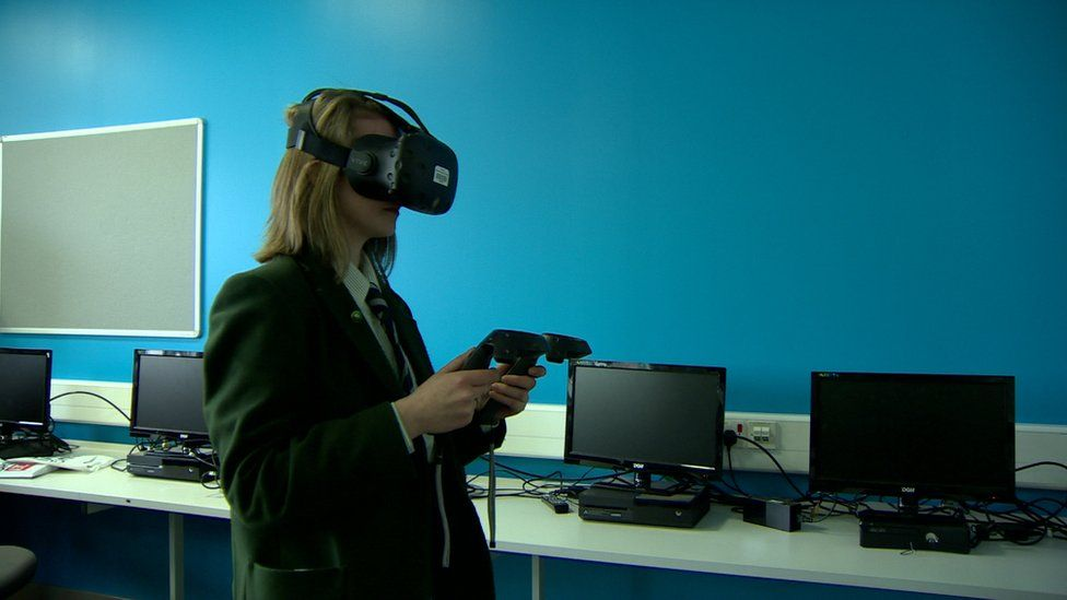 The girls sampled classes ranging from plumbing and motor mechanics, to virtual reality and app design