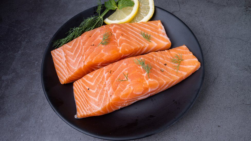 Raw Atlantic salmon