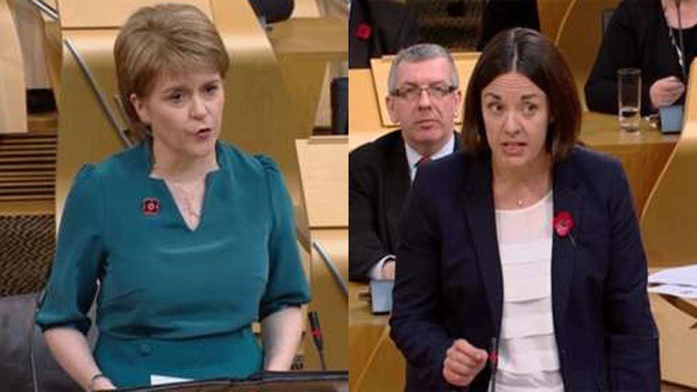 Nicola Sturgeon a Kezia Dugdale