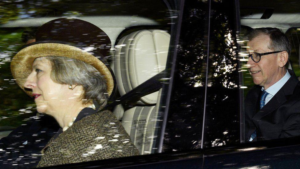 Theresa May at Crathie Church