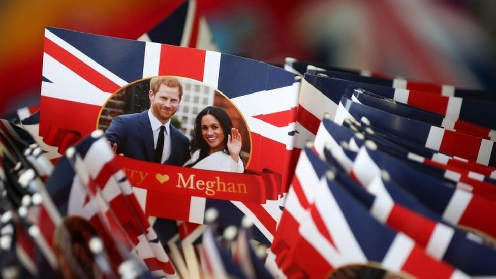 flags showing meghan and harry