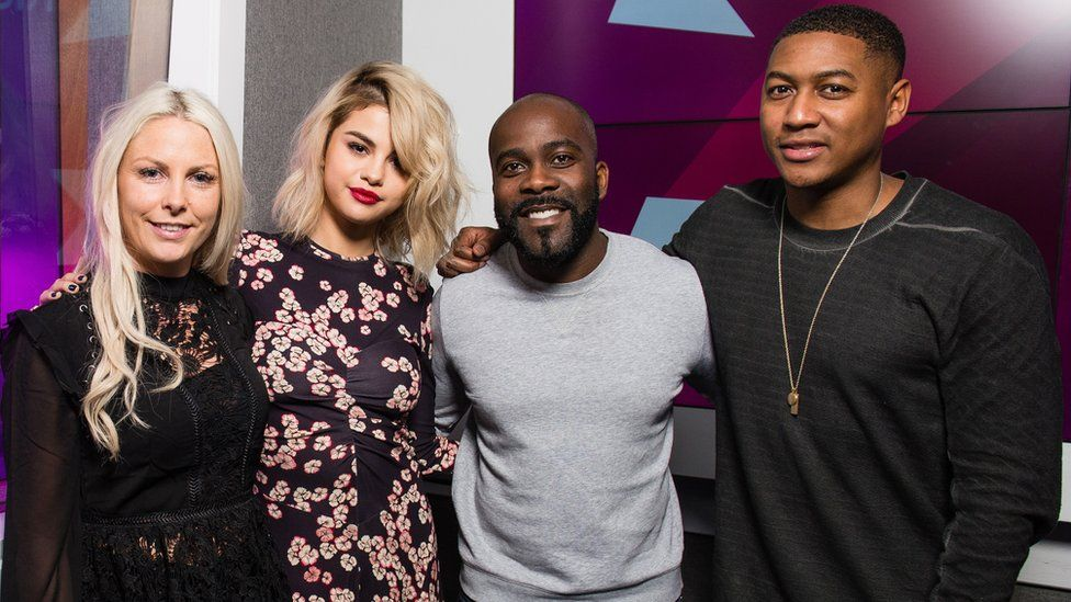Rickie, Melvin and Charlie with Selena Gomez