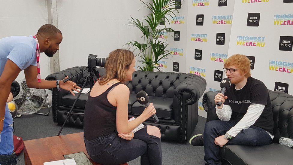 Ed Sheeran gives an interview