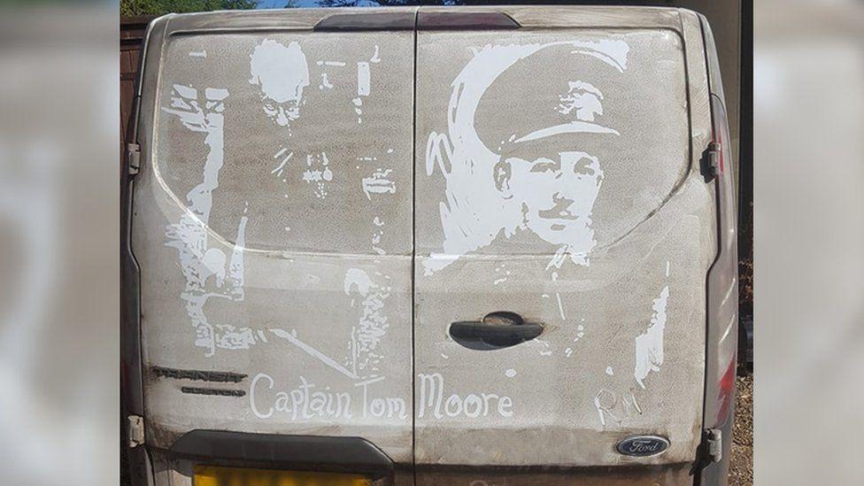 Van painting of Capt Tom