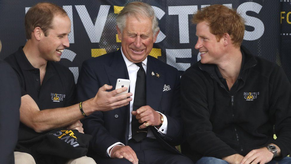 Prince William, Prince Charles and Prince Harry