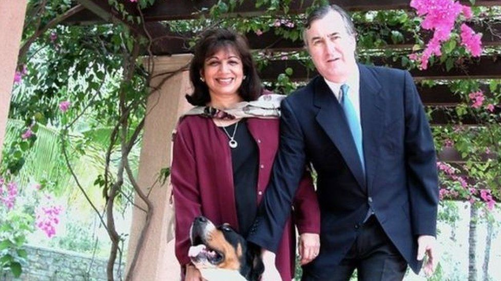 Kiran Mazumdar-Shaw and her husband John