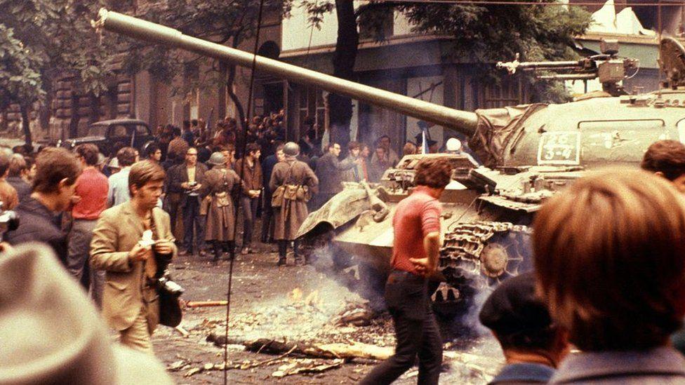 Soviet forces in Prague in 1968