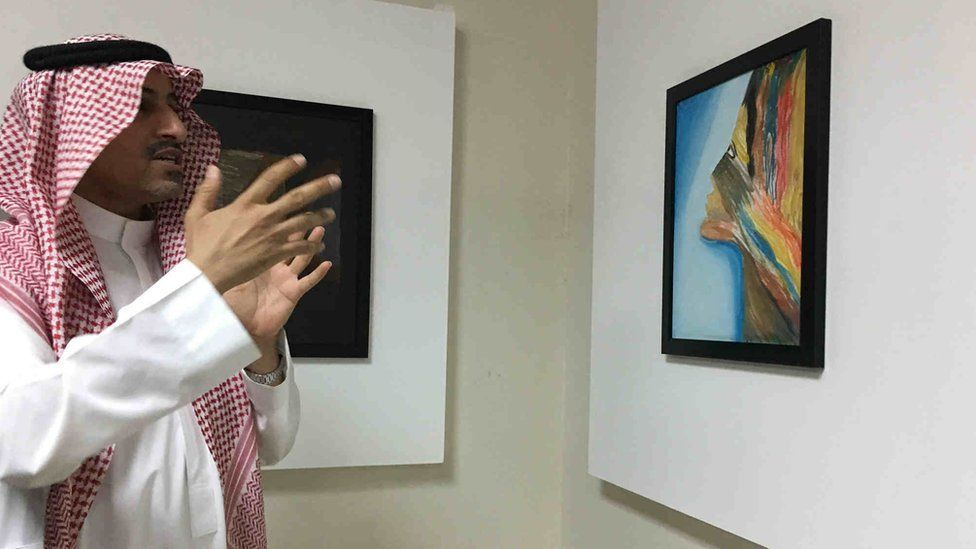 Art therapist Dr Bader Al-Razin