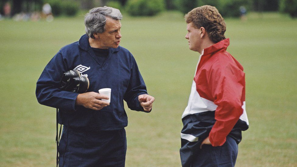 Bobby Robson and Paul Gascoigne