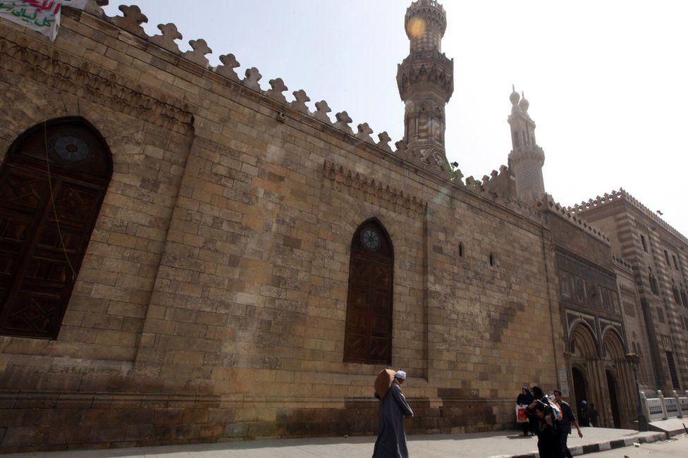 Al-Azhar mosque in Cairo, Egypt