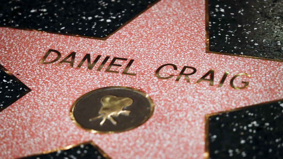 Daniel Craig's star on the Hollywood Walk of Fame