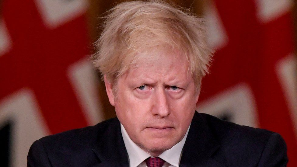 Prime Minister Boris Johnson at the Downing Street briefing