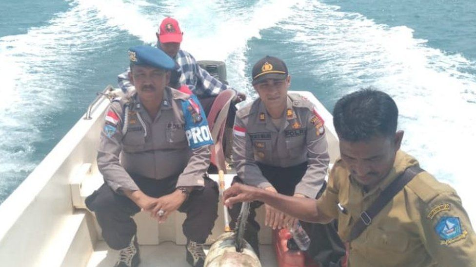 The Chinese drone found in Indonesia was around two metres long