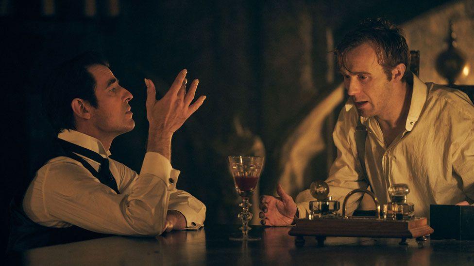 Claes Bang and John Heffernan in Dracula