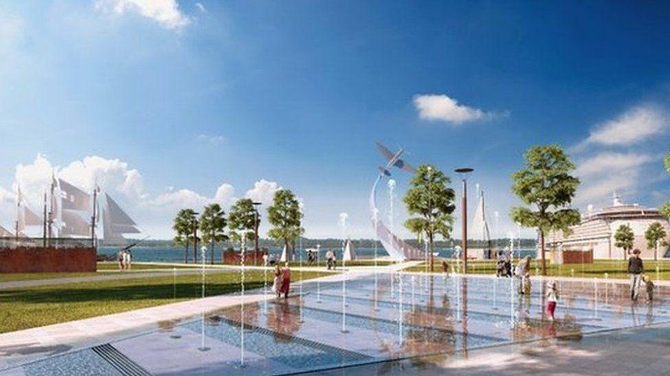 Royal Pier Waterfront illustration