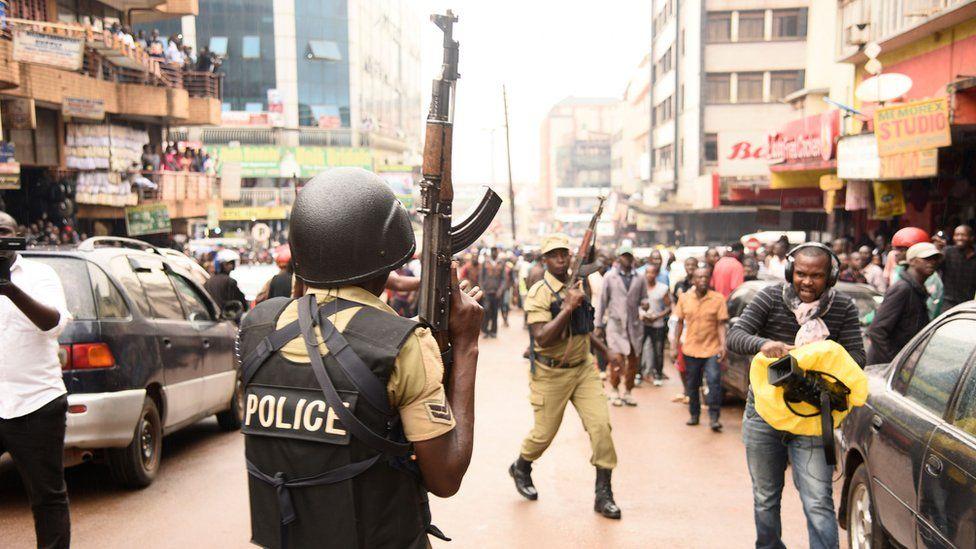 Street protest in Kampala